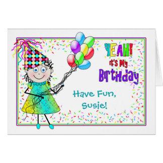 BIRTHDAY -DORI'S Collection- Balloons and Confetti Card