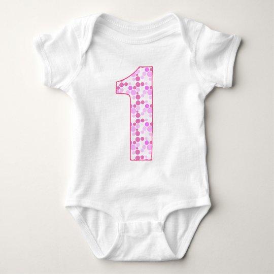 Birthday Dotty - Year One Baby Bodysuit