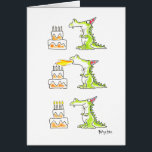 "BIRTHDAY DRAGON by Boynton Card<br><div class=""desc"">Classic Boynton card showing a dragon blowing the candles—and they light.</div>"