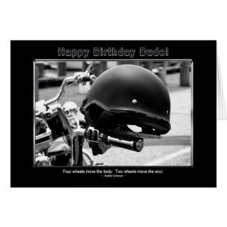 Birthday - Dude - Friend -Biker Card