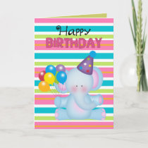 Birthday Elephant Animal Greeting card