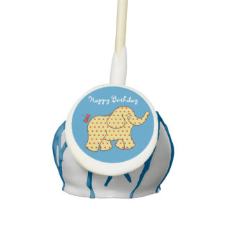 Birthday Elephant Cake Pops