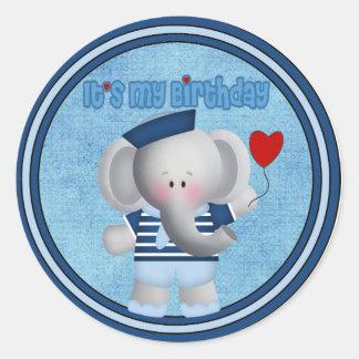 Birthday Elephant Sticker and Envelope Seal