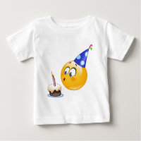 Birthday Emoji Baby Tops T Shirts