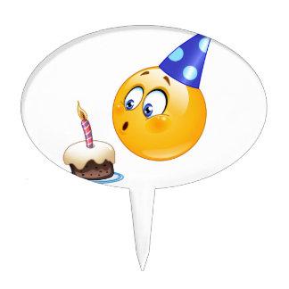 birthday emoji cake topper