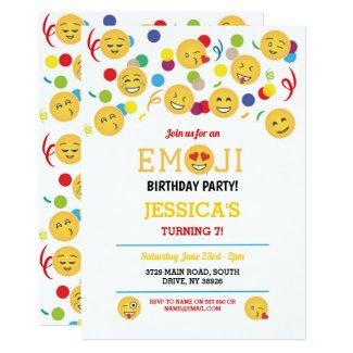 Birthday Emoji Children's Birthday Fun Happy Invitation