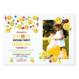 Birthday Emoji Children's Birthday Fun Happy Photo Invitation