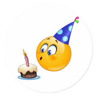 birthday emoji Invitation Circle