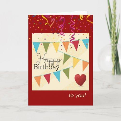 Birthday Fanfare for Him Card