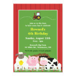 Birthday Farm Animals Flat Invitation