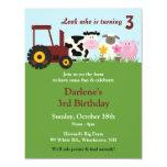 Birthday Farm Animals Invitation