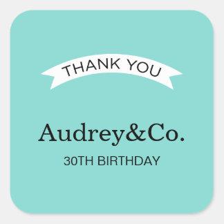Birthday Favor Stickers | Little Blue Box
