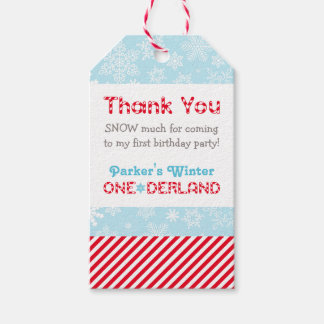 Birthday Favor Tags | Winter ONEderland Party Pack Of Gift Tags