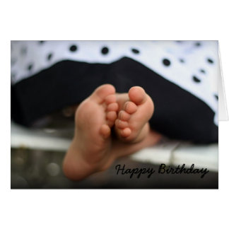 Birthday feet, Happy Birthday Card