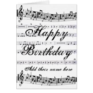 Birthday feliz tarjetas