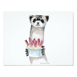 Birthday Ferret 4.25x5.5 Paper Invitation Card