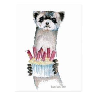 Birthday Ferret Postcard