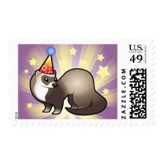 Birthday Ferret Stamp
