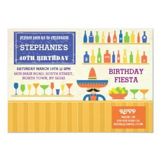 Birthday Fiesta Mexico Mexican Party Bar Invite