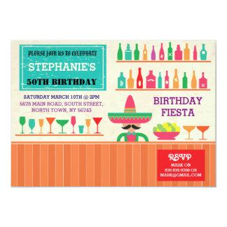 Birthday Fiesta Mexico Mexican Party Bar Invite