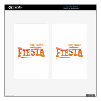 Birthday Fiesta Skins For Kindle Fire