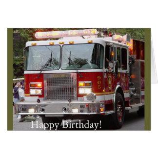 Birthday Fire Engine Card