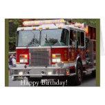 Birthday Fire Engine Greeting Card