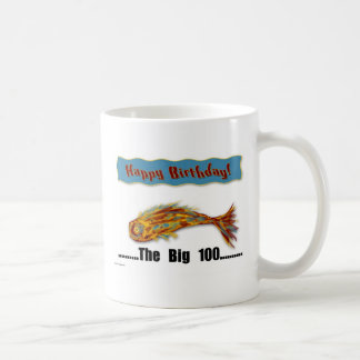 Birthday Fish 100th Coffee Mug