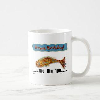 Birthday Fish 100th Coffee Mug