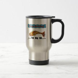 Birthday Fish 60th Travel Mug