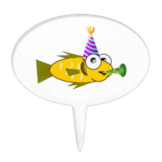 Birthday fish clipart cake topper