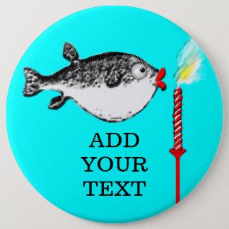 Birthday Fish Makes Wish Button