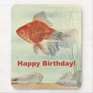 Birthday Fish Mouse Pad