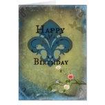 Birthday Fleur De Lis Greeting Card