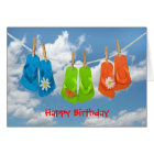 Birthday flip-flops card