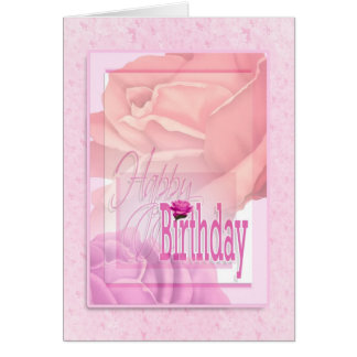 Birthday floral flower wishes for women card