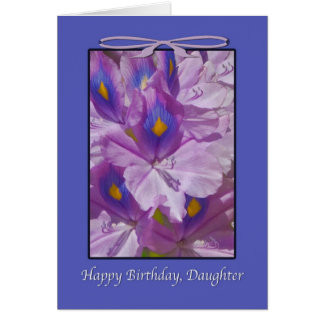 Birthday, Floral, Lilies, Daughter Card
