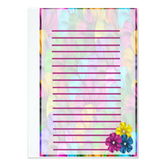 Birthday Floral Stationary Card