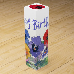Birthday Floral Wine Gift Box