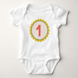 Birthday Flower Design Baby Bodysuit