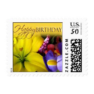 Birthday Flower Stamps