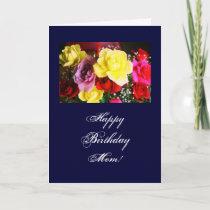 Birthday flowers for Mom Card