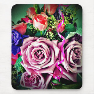 Birthday flowers mouse pad