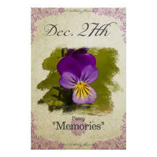 December Birthday Posters Photo Prints Zazzle