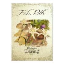 "Birthday flowers on February 13th ""Edelweiss"" Card"