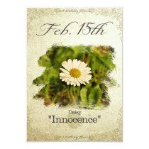 """Birthday flowers on February 15th """"Daisy"""" Card"""