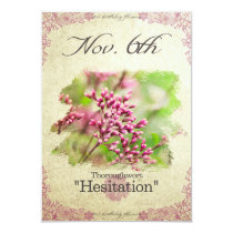 "Birthday flowers on November 6th ""Thoroughwort"" Card"
