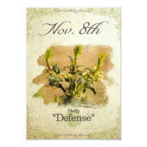 "Birthday flowers on November 8th ""Holly"" Card"