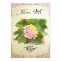"Birthday flowers on November 9th ""Lantana"" Card"