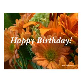 Birthday Flowers Postcard